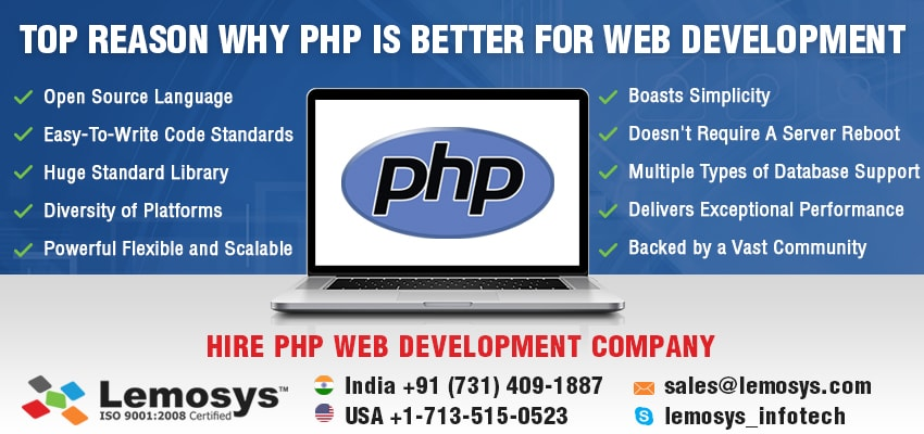 Reason to Choose PHP for Web Development