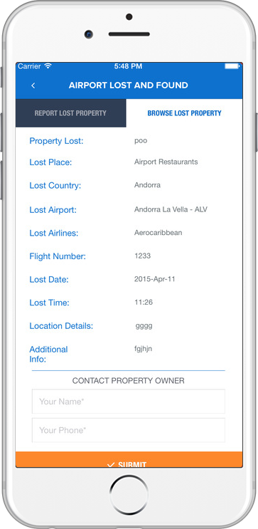 Airport Luggage Finder Application