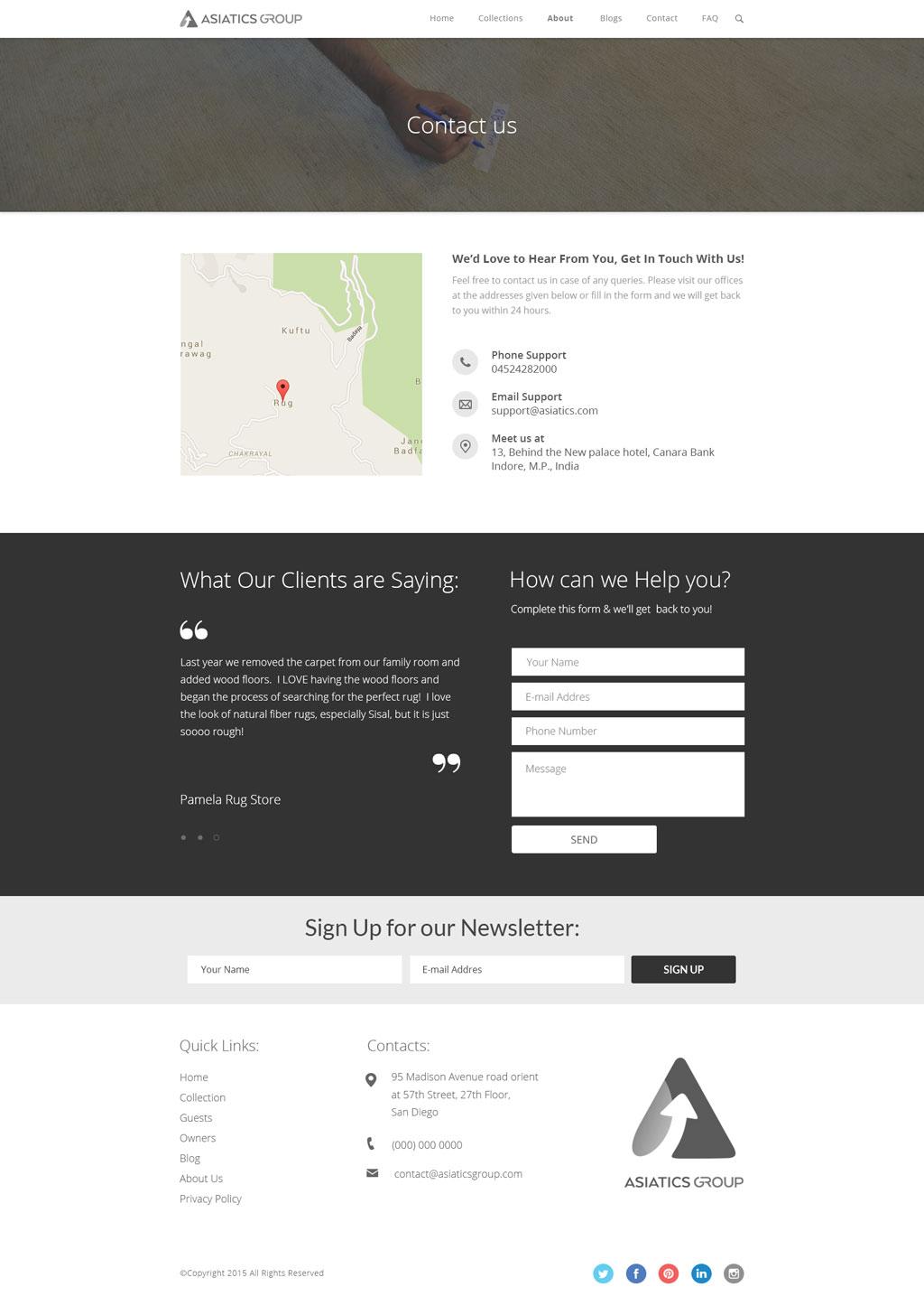 Zaki Rugs Asiatics Group Website